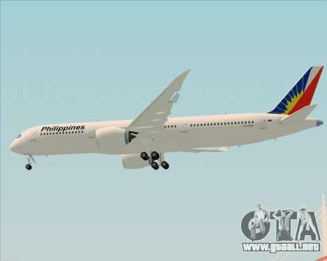 Airbus A350-900 Philippine Airlines para vista inferior GTA San Andreas