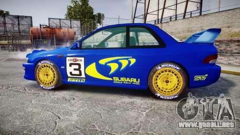 Subaru Impreza WRC 1998 Rally v2.0 Yellow para GTA 4 left