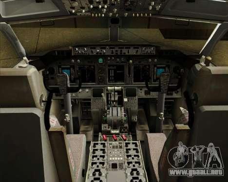 Boeing 737-800 American Airlines para GTA San Andreas interior