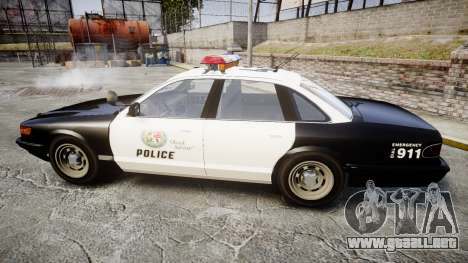 Vapid Police Cruiser MX7000 para GTA 4 left