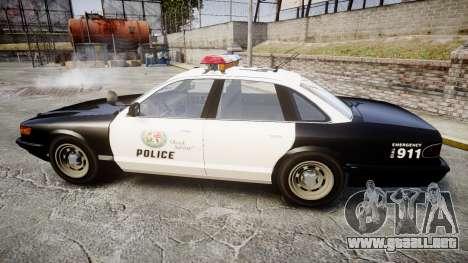 Vapid Police Cruiser MX7000 para GTA 4 left