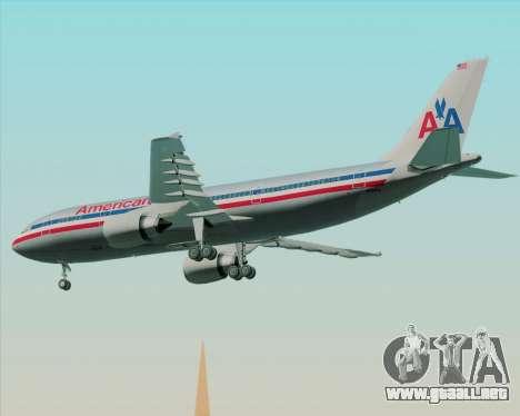Airbus A300-600 American Airlines para GTA San Andreas vista hacia atrás