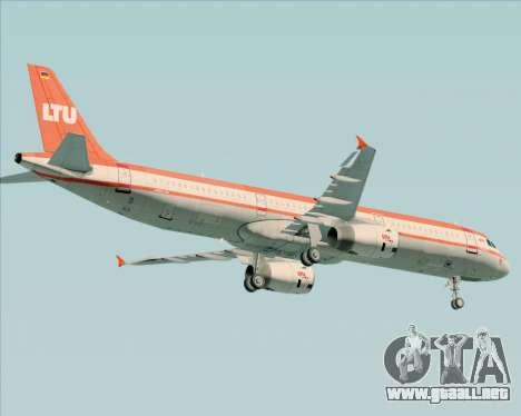 Airbus A321-200 LTU International para vista inferior GTA San Andreas