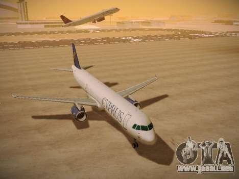 Airbus A321-232 Cyprus Airways para GTA San Andreas vista hacia atrás