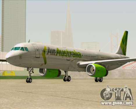 Airbus A321-200 Air Australia para vista inferior GTA San Andreas