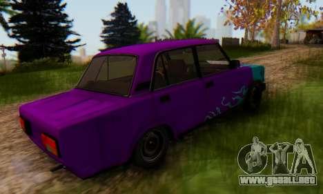 VAZ 2107 Llama Azul para GTA San Andreas left