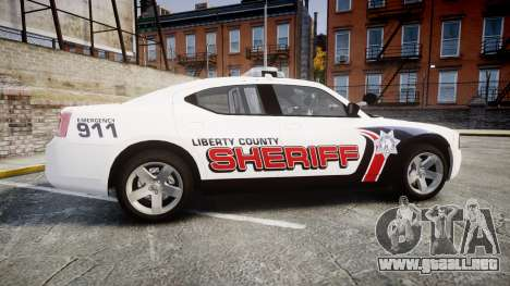 Dodge Charger 2010 LC Sheriff [ELS] para GTA 4 left