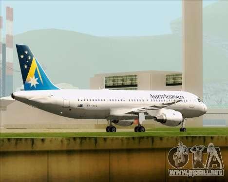 Airbus A320-200 Ansett Australia para vista inferior GTA San Andreas