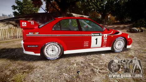 Mitsubishi Lancer Evolution VI Rally Marlboro para GTA 4 left