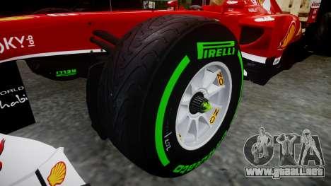 Ferrari F138 v2.0 [RIV] Alonso TIW para GTA 4 vista hacia atrás