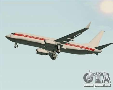 Boeing 737-800 EG&G - Janet para GTA San Andreas vista posterior izquierda