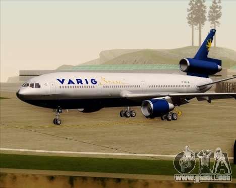 McDonnell Douglas DC-10-30 VARIG para GTA San Andreas left