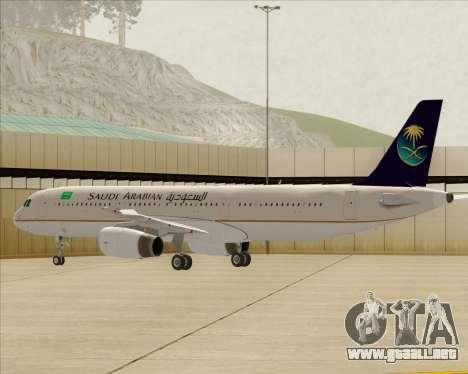 Airbus A321-200 Saudi Arabian Airlines para las ruedas de GTA San Andreas