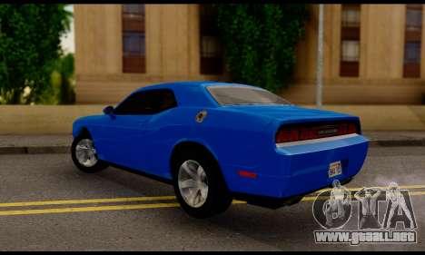 Dodge Challenger SXT Plus 2013 para GTA San Andreas left