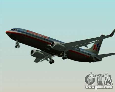 Boeing 737-800 American Airlines para visión interna GTA San Andreas