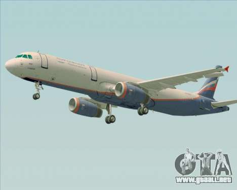 Airbus A321-200 Aeroflot - Russian Airlines para vista inferior GTA San Andreas