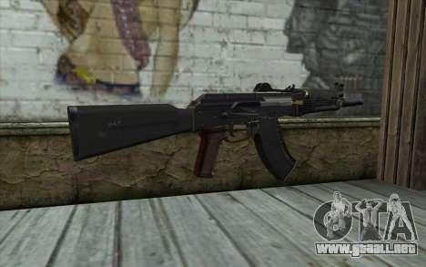 Moderno AKS-74U para GTA San Andreas segunda pantalla
