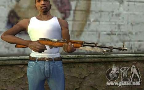 СКС (Battlefield: Vietnam) para GTA San Andreas tercera pantalla