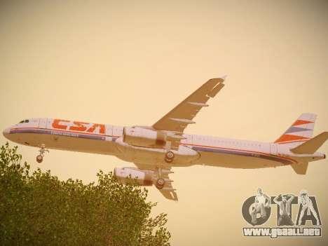 Airbus A321-232 Czech Airlines para la visión correcta GTA San Andreas