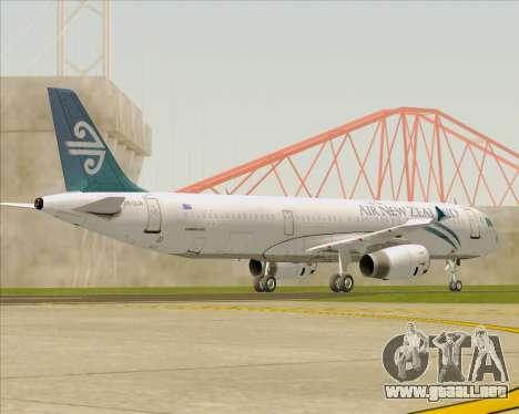 Airbus A321-200 Air New Zealand para la vista superior GTA San Andreas