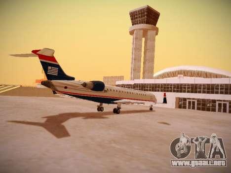 Bombardier CRJ-700 US Airways Express para la visión correcta GTA San Andreas