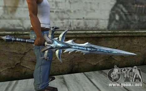 Sword from World Of Warcraft-Frostmourne para GTA San Andreas tercera pantalla