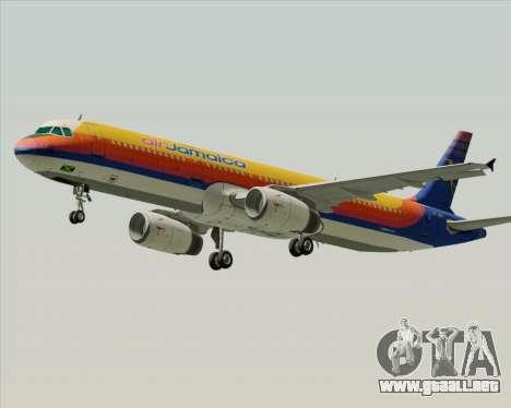 Airbus A321-200 Air Jamaica para visión interna GTA San Andreas