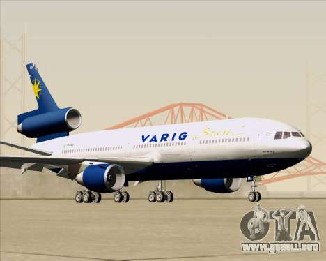 McDonnell Douglas DC-10-30 VARIG para visión interna GTA San Andreas