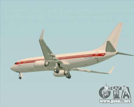 Boeing 737-800 EG&G - Janet para la visión correcta GTA San Andreas