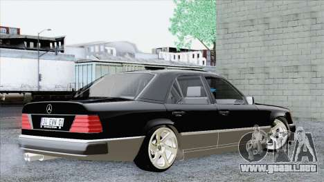 Mercedes-Benz w124 para GTA San Andreas left