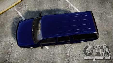 Chevrolet Suburban Undercover 2003 Grey Rims para GTA 4 visión correcta