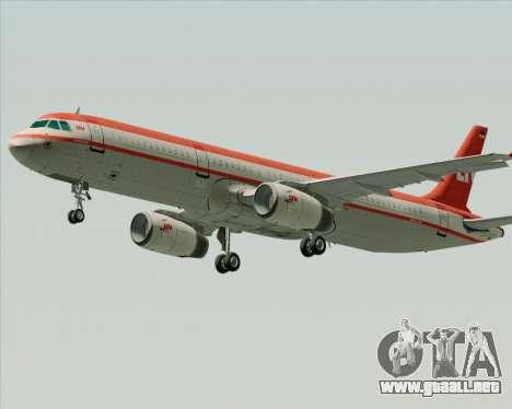 Airbus A321-200 LTU International para la vista superior GTA San Andreas