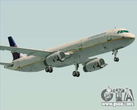 Airbus A321-200 Continental Airlines para GTA San Andreas left