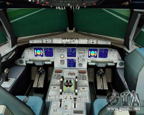 Airbus A321-200 Monarch Airlines para GTA San Andreas interior
