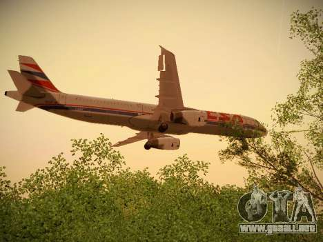 Airbus A321-232 Czech Airlines para vista inferior GTA San Andreas