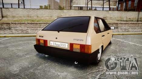 VAZ-2109 BRAZO para GTA 4 Vista posterior izquierda