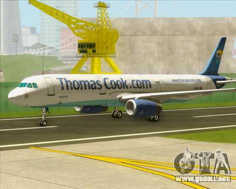 Airbus A321-200 Thomas Cook Airlines para GTA San Andreas left