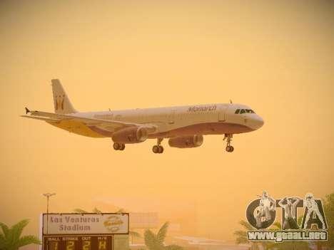Airbus A321-232 Monarch Airlines para vista inferior GTA San Andreas