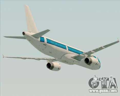 Airbus A321-200 American Pacific Airways para las ruedas de GTA San Andreas