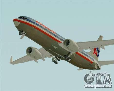Boeing 737-800 American Airlines para la vista superior GTA San Andreas