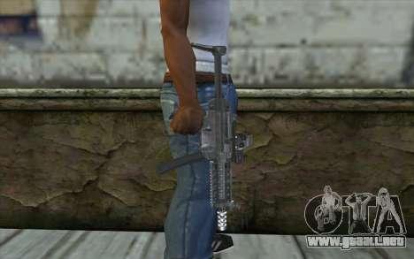 Silver MP5 para GTA San Andreas tercera pantalla