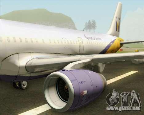 Airbus A321-200 Monarch Airlines para el motor de GTA San Andreas