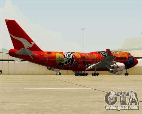 Boeing 747-400ER Qantas (Wunala Dreaming) para las ruedas de GTA San Andreas