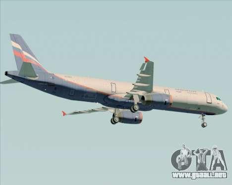 Airbus A321-200 Aeroflot - Russian Airlines para GTA San Andreas vista hacia atrás