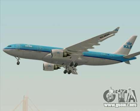 Airbus A330-200 KLM - Royal Dutch Airlines para la vista superior GTA San Andreas