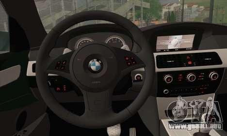 BMW M5 Stanced para GTA San Andreas vista posterior izquierda