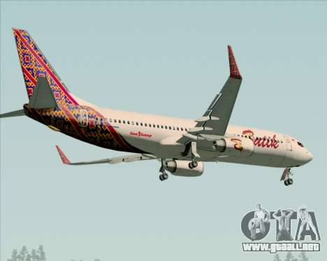 Boeing 737-800 Batik Air para vista lateral GTA San Andreas