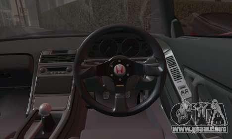 Honda NSX 2005 para GTA San Andreas vista hacia atrás