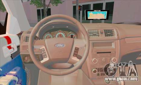 Ford Fusion NYPD v2.0 para GTA San Andreas vista posterior izquierda