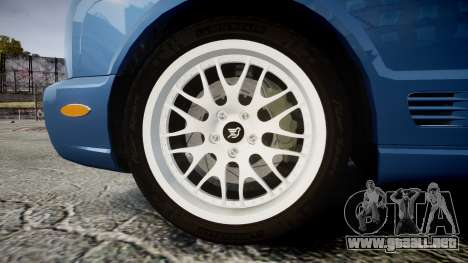 Bentley Arnage T 2005 Rims2 Chrome para GTA 4 vista hacia atrás